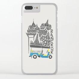 Bangkok Cityscape Clear iPhone Case