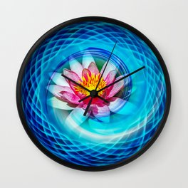 Wellness Water Lily Wall Clock
