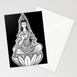 Chinese god. Beautiful goddess. Peace. Beauty concept. Meditation. Healing concept. Chinese medicine Stationery Cards