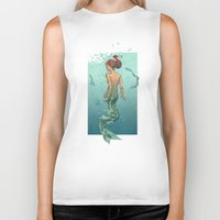 mermaid Biker Tanks featuring Mermaid by Calavera