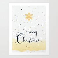 merry christmas Art Prints featuring Merry Christmas by Earthlightened