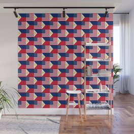 Mix of flag: philippines and Usa Wall Mural