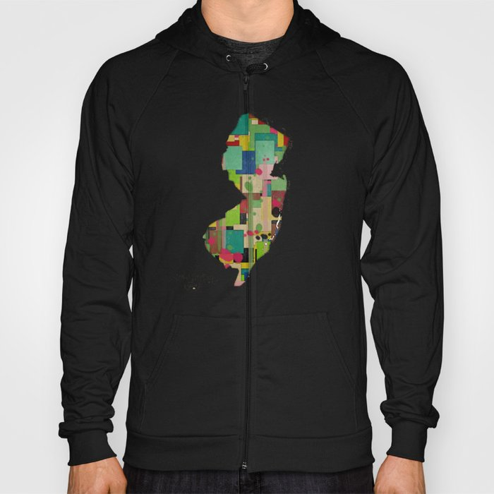 New Jersey state map Hoody