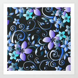 Flowers wall paper 7 Art Print