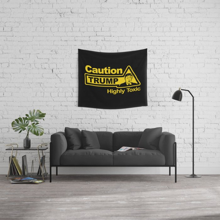 Caution - Trump Wall Tapestry
