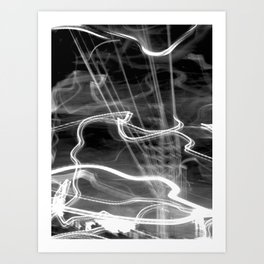 Spirit Power Inside (B&W) Art Print