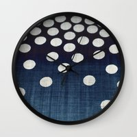 indigo Wall Clocks featuring Indigo by Good Sense