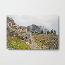 Alpine Ridgeline Trail Woods Forest Mountain Mist Washington Northwest Outdoors Nature Geology Metal Print