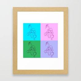 Broccoli Pop Framed Art Print
