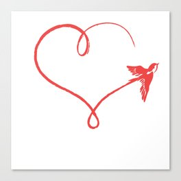 Heart Schwalbe Trajectory Flyer Gift Canvas Print
