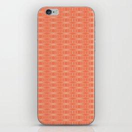 hopscotch-hex tangerine iPhone Skin