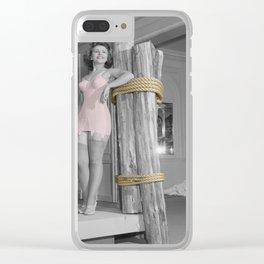 Girdle Girl 3 Clear iPhone Case