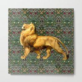 Medieval Lion Metal Print