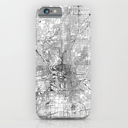 Indianapolis White Map iPhone Case
