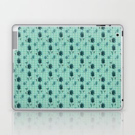 country blue flowers pattern Laptop & iPad Skin