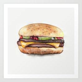Color pencil Hamburger Art Print