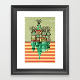 Pineapple architecture  Framed Art Print