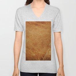 Vintage leather texture. Natural brown animal skin illustration. Unisex V-Neck