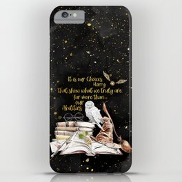 Our Choices - Golden Dust iPhone Case