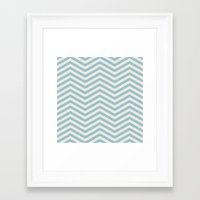 chevron Framed Art Prints featuring Chevron by Patterns and Textures