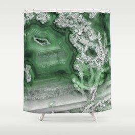 Green Agate #1 Shower Curtain