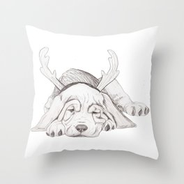 Bloodhound Puppy 1st XMAS Throw Pillow