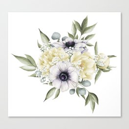 Shabby Cream Canvas Print