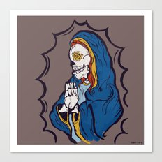 The Ojeros Ticked Virgin Mary  Canvas Print