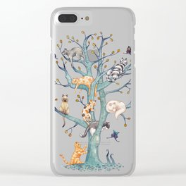The tree of cat life Clear iPhone Case