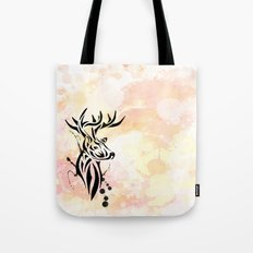 Stag Tribal  Tote Bag