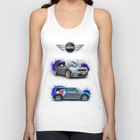 decal Tank Tops featuring Cars: Mini Cooper S by Urbex :: Siam