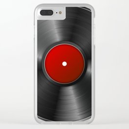 Vinyl Record Clear iPhone Case