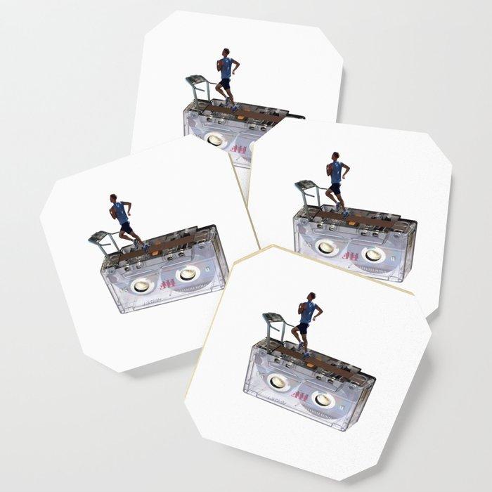 Cassette Tape Running Treadmill Coaster