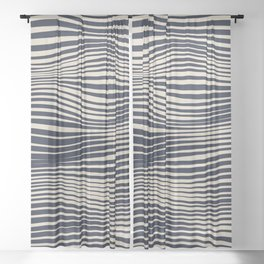 Waving Lines Sheer Curtain