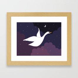 Follow the Pretty Bird Across the Sky Framed Art Print