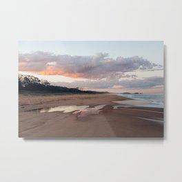 Sandy Reflections Metal Print