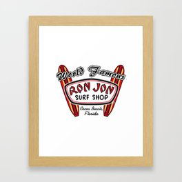 World Famous Ron Jon Surf Shop Cocca Beach Florida Framed Art Print