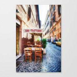 Bar, Trattoria, Rome, Italy Canvas Print