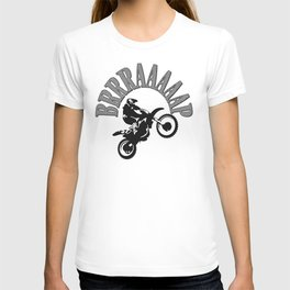 Brrraaaaap Checkered Flag Moto Language T-shirt