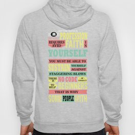 Getting Ahead In A Difficult Profession Requires Avid Faith In Yourself Inspire Quote Design Hoody