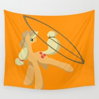 mlp Wall Tapestries featuring Tail Whipping Applejack by Mayiamaru