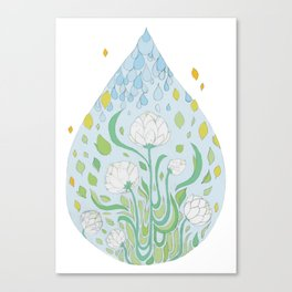 Waterflowers Canvas Print