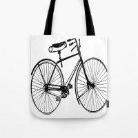copenhagen Tote Bags featuring Copenhagen  by PaperandPaintbrush