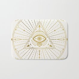 All-Seeing Eye Mandala – Gold Palette Bath Mat