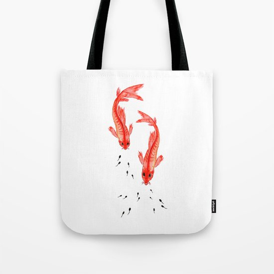 Curiosity. Fish and Tabpole Tote Bag