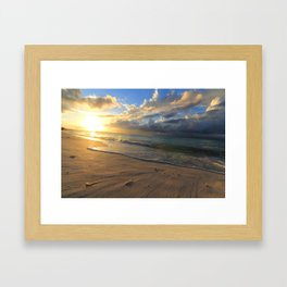 Sunset at Turks and Caicos Islands Framed Art Print