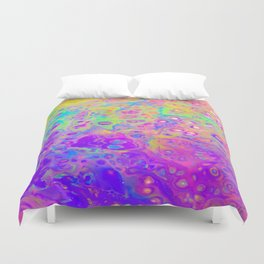 Rainbow Psychedelic Bubbles Duvet Cover