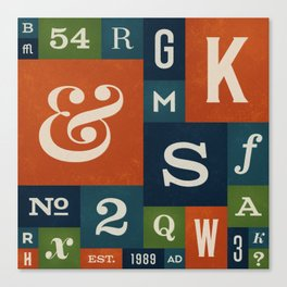 A Celebration of Typographic Form Canvas Print