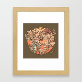 Deer Smoke & Indian Paintbrush Framed Art Print