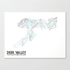 Deer Valley, UT - Minimalist Trail Art Canvas Print